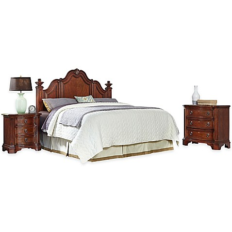 home styles santiago 3 piece headboard nightstand and. Black Bedroom Furniture Sets. Home Design Ideas