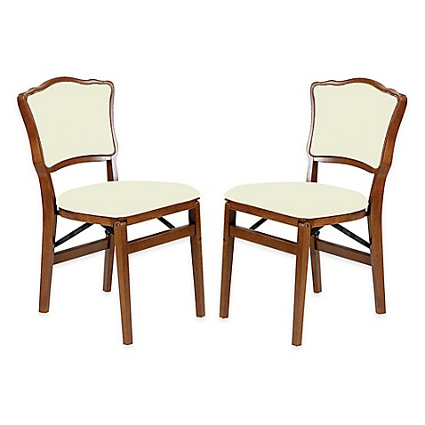 Buy Stakmore French Padded Back Wood Folding Chairs In
