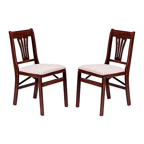 stakmore urn back wood folding chairs set of 2 bed