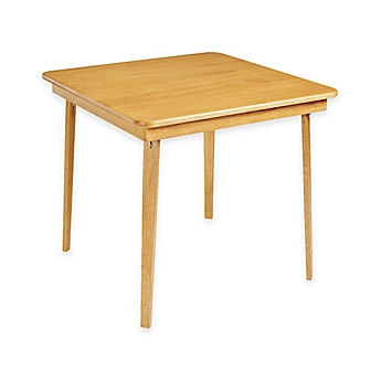Image Of Stakmore 32 Inch Straight Edge Folding Card Table