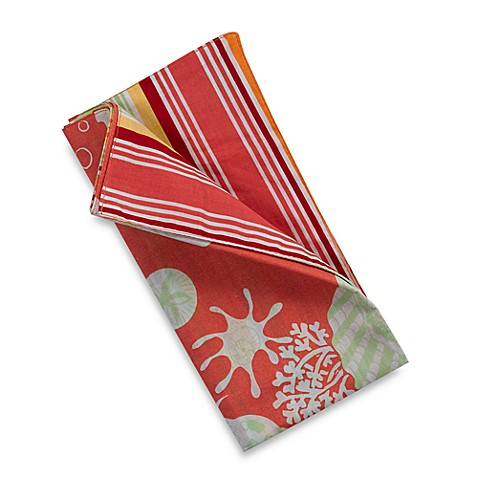 Coral Shell Quilted Napkin in Coral