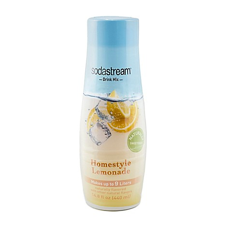 Sodastream waters fruits homestyle lemonade flavored for Sparkling water mixed drinks