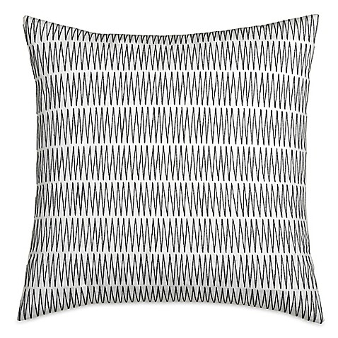 Dkny City Pleat Zig Zag Square Throw Pillow In Ivory Bed
