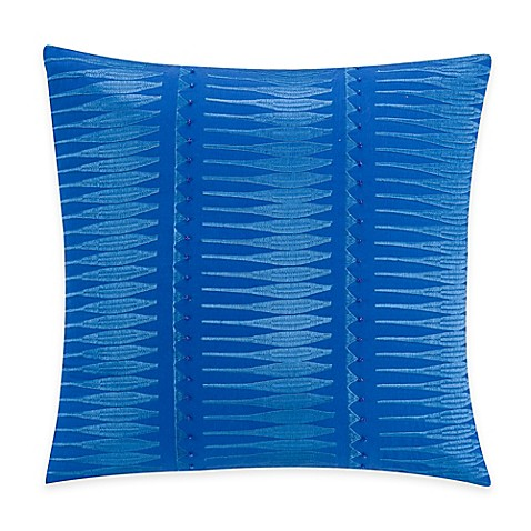 Kas Gabriel Square Throw Pillow in Electric Blue - Bed Bath & Beyond