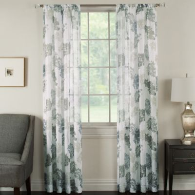 Brinkley Rod Pocket Sheer Waterflower Window Curtain Panel