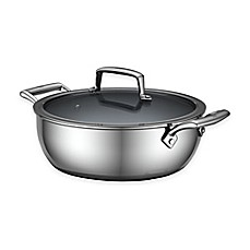 image of Zwilling J.A. Henckels Energy 4.6 qt. Ceramic-Coated Stainless Steel Covered Perfect Pan