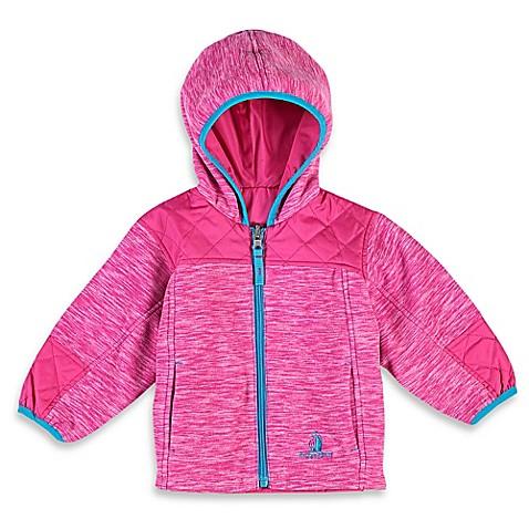 rugged bear reversible fleece midweight jacket in pink. Black Bedroom Furniture Sets. Home Design Ideas