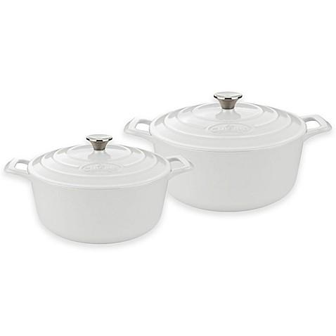 Buy la cuisine pro 4 piece round cast iron casserole set for Four cuisine pro