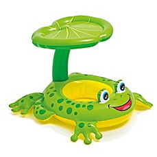 image of Intex® Froggy Friend Baby Float with Leaf Sunshade in Green