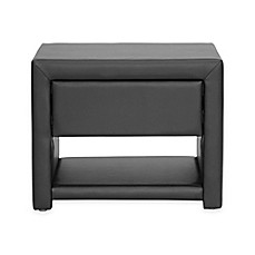 image of Baxton Studio Massey Upholstered Modern Nightstand