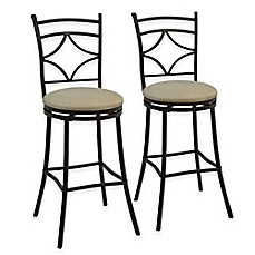 image of rahway adjustable bar stools in bronze set of 2