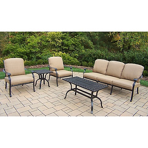 Oakland Living Clairmont Patio Furniture Collection - Bed ... on Oakland Living Patio Sets id=76613