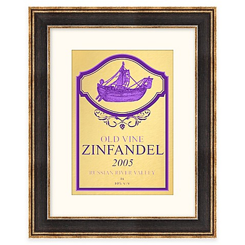 Zinfandel Wine Label Framed Wall Art - Bed Bath & Beyond