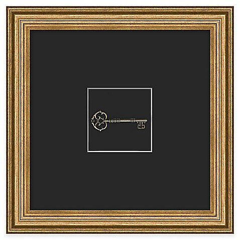Buy skeleton key 1 framed wall art from bed bath beyond for Where to buy framed art