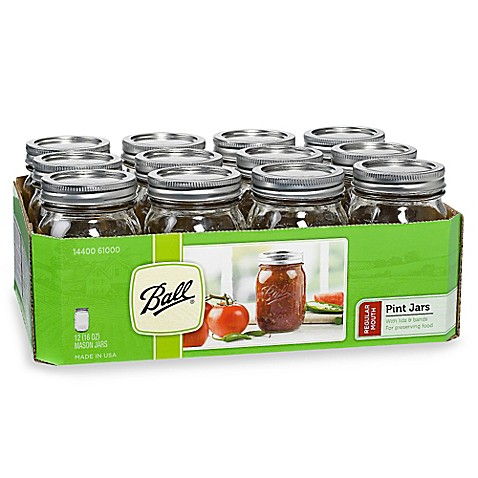 Ball® Regular Mouth 12-Pack Glass Canning Jars