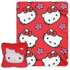 image of Hello Kitty® Flowers 3D Pillow and Throw