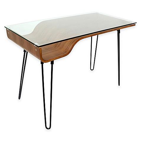 LumiSource Avery Desk In Walnut