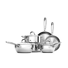 image of OXO Good Grips® Tri-Ply Stainless Steel 10-Piece Cookware Set