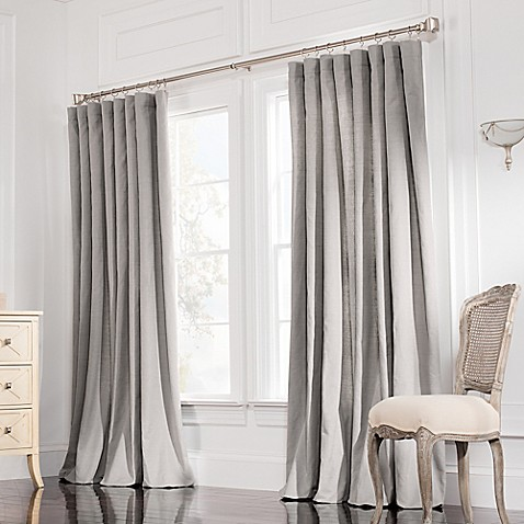 Buy Valeron Estate Cotton Linen 84 Inch Double Wide Window Curtain Panel In Steel Grey From Bed
