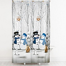 Exceptional Image Of Winter Friends Shower Curtain With Hooks