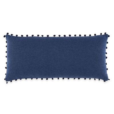 image of Anthology™ Happy Indigo Oblong Throw Pillow in Navy