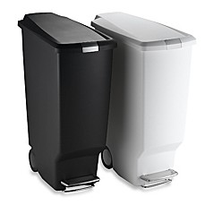 image of simplehuman® Slim Plastic 40-Liter Step-On Trash Can