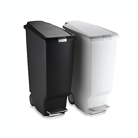 Simplehuman Slim Plastic  Liter Step On Trash Can
