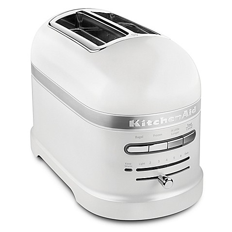 buy kitchenaid pro line 2 slice toaster in white from bed bath beyond. Black Bedroom Furniture Sets. Home Design Ideas