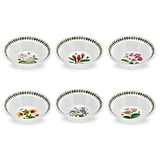 image of Portmeirion® Exotic Botanic Garden Assorted Oatmeal/Soup Bowls (Set of 6)