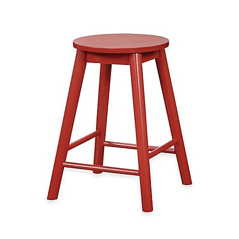 buy denville 24 inch backless counter stool in red from bed bath beyond. Black Bedroom Furniture Sets. Home Design Ideas