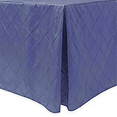 image of Bombay Diamond-Stitched Pintuck Indoor/Outdoor Fitted Tablecloth