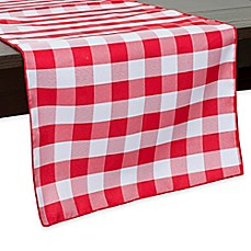 Beau Gingham Poly Check Table Runner