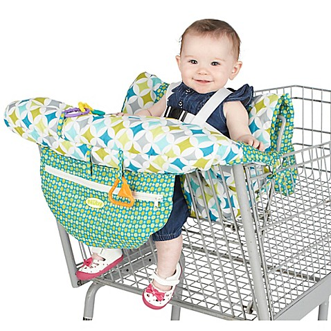 Nubyu0026trade; Shopping Cart and High Chair Cover in Green/White  sc 1 st  Bed Bath u0026 Beyond & Nuby™ Shopping Cart and High Chair Cover in Green/White - Bed Bath ...