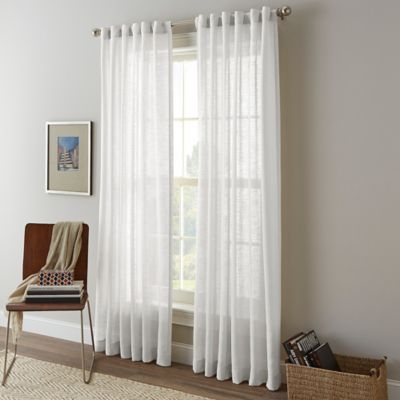 Shimmer Sheer Rod Pocket Window Curtain Panel Bed Bath