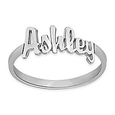 image of Alison & Ivy® Sterling Silver 18mm Ladies' Script Name Ring