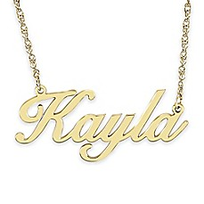 image of Alison & Ivy® Sterling Silver 18-Inch Cursive Font Nameplate Necklace