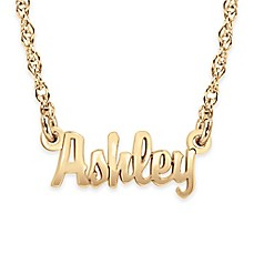image of Alison & Ivy® Sterling Silver Mini Nameplate Necklace