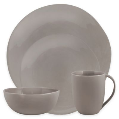 Artisanal Kitchen Supply® Curve Dinnerware Collection in Grey  sc 1 st  Bed Bath \u0026 Beyond : bed bath and beyond dinnerware - pezcame.com