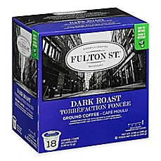 image of 18-Count Fulton St.® Dark Roast RealCup™ Coffee for Single Serve Coffee Makers