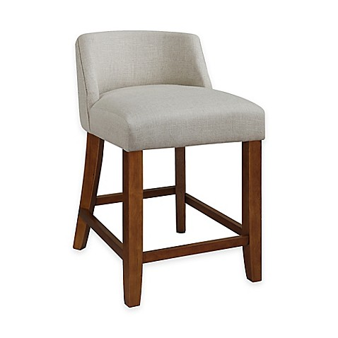 Buy Landon Low Back Counter Stool In Linen From Bed Bath