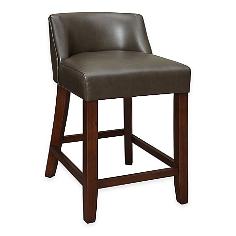 Buy Landon Low Back Counter Stool In Chocolate From Bed