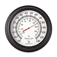 image of 10-Inch Round Indoor/Outdoor Thermometer in Bronze