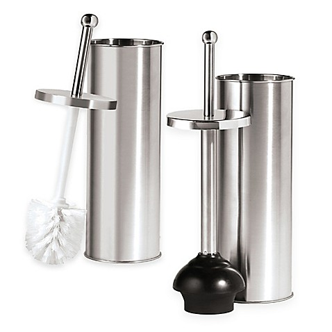 Oggi stainless steel toilet accessories bed bath beyond for Stainless steel bathroom accessories