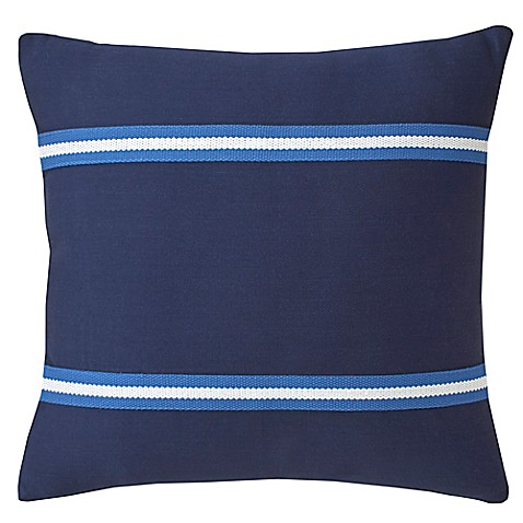 Southern Tide 174 Dock Street Stripe Woven Tape Square Throw