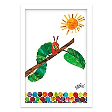 image of Eric Carle Caterpillar Crawl Shadow Box Wall Art