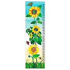 image of eric carle sunflower growth chart canvas wall art
