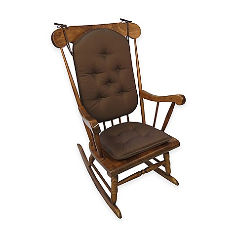Buy Klear Vu Cotton Twill Rocker Cushions In Dark Brown