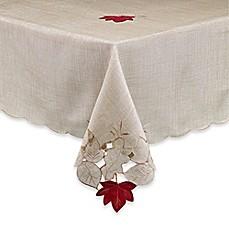 Image Of Fall Foliage Tablecloth