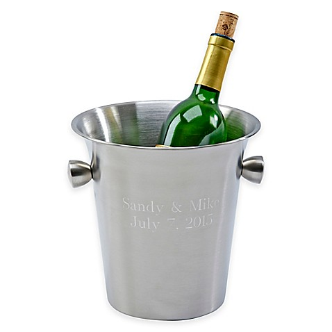 Stainless Steel Wine Cooler With Knob Handles Bed Bath