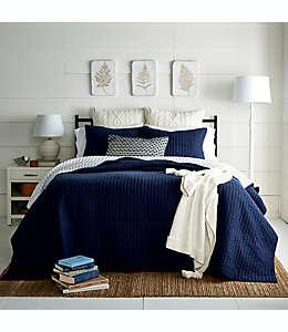 Juego de colcha matrimonial/queen Bee & Willow™ Home color azul, 3 piezas